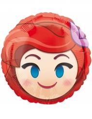 Ballon aluminium rund Ariel™ Emoji™ 43 cm