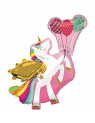 Ballon aluminium unicorn 78x86 cm