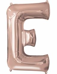 Ballon aluminium bogstav E rosa-guld 53 x 81 cm
