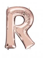 Ballon aluminium bogstav R rosa-guld 58 x 81 cm