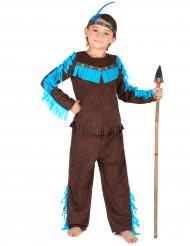 Kostume indianer brunt til drenge!