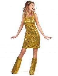 Kostume disco guld med pailletter til kvinder