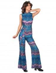 Kostume 70er blåt til kvinder