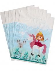 6 gaveposer med prinsesse 15 x 23 cm