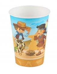 Cowboy og indianer papkrus 25 cl