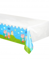 Hvid plastikdug med Gurli Gris™ - 130 x 180 cm
