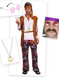 Kostumepakke hippie til mænd