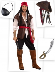 Kostumepakke pirat til mænd