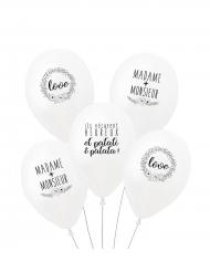 5 Balloner med søde tryk
