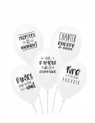 5 stk latex balloner med søde ord