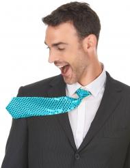 Tyrkis slips med pailletter voksen