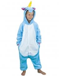 Kostume unicorn i blå til børn