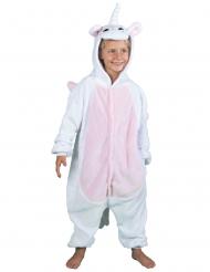 Kostume heldragt hvid enhjørning til børn