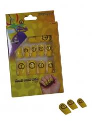 Falske negle i gul hippie