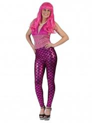 Leggings havfrue i rosa til kvinder