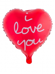Ballon rødt hjerte I love you 52x46 cm