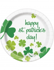 8 Paptallerkener Happy St. Patricks Day 23 cm