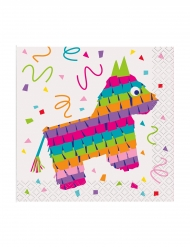 16 små servietter Piñata 25 x 25 cm