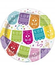 8 små tallerkner Fiesta Mexicana 18 cm
