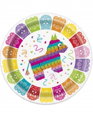8 Tallerkner Fiesta Mexicane 23 cm