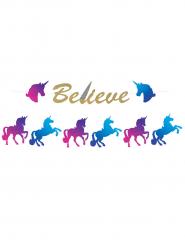 Guirlande Unicorn med glimmer