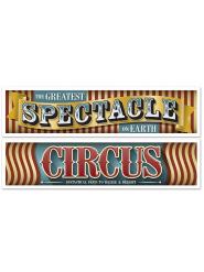 2 Bannere Vintage Cirkus 38 cm x 1,5 m