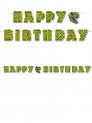 Guirlande Happy Birthday dinosaurus