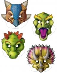 4 papmasker dinosaurer