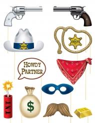 Western Photobooth sæt 12 accessoires