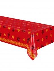 Plastik borddug asiatisk rød 137 x 274 cm