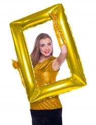 Ballon ramme i guldfarvet