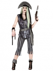 Halloween spøgelses piratkostume til kvinder