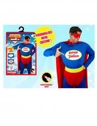 Kostume hjemmelavet superhelt