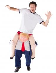 Kostume mand på ryggen af Præsident Trump til voksne