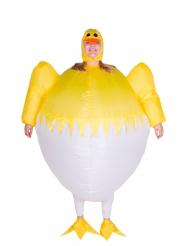 Oppusteligt kyllingekostume i æggesakl - Kostume til voksne