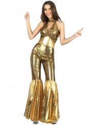 Guldfarvet diskokostume til kvinder