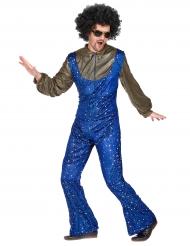 Blåt discokostume til mænd