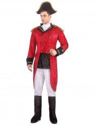 Rødt og sort napoleonkostume til voksne