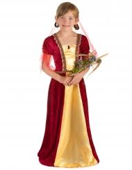 Middelalder prinsessekjole rød til piger