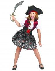 Piratkostume med dødningehoveder til piger