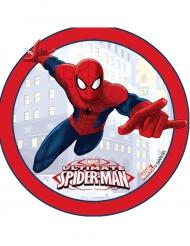 Kagedekoration med rød kant - Ultimate Spiderman™