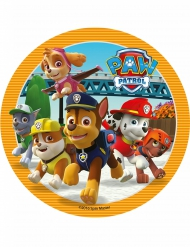 Kagedekoration med Paw Patrol™ 21 cm - Orange kant