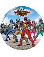 Blå kagedekjoration med Power Rangers™ 21 cm