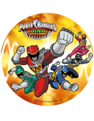 Orange kagedekoration med Power Rangers™ 21 cm