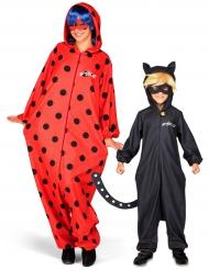 Par kostume Ladybug og Cat Noir fra Miraculous™ mor og søn