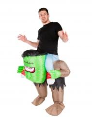 Kostume oppusteligt grønt monster kostume