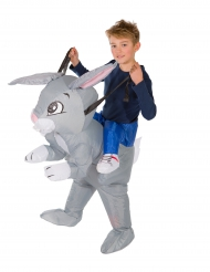 Kostume oppustelig kanin til børn