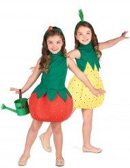 Par kostume frugt jordbær og ananas til piger