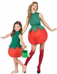 Parkostume jordbær mor og datter