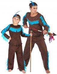 Parkostume indianere far og søn